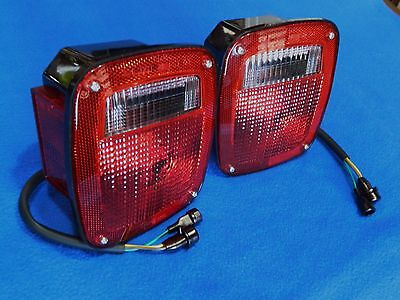 GM Stepside Truck 1977-87 Tail Lamps Chevy GMC 77 78 79 80 81 82 83 84 85 86 87  Classic Black Step Lights