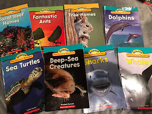 Scholastic books (see photo) science vocabulary readers