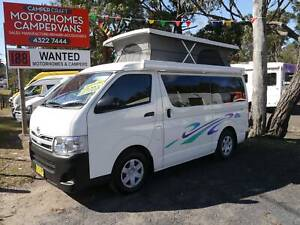 Toyota Hiace Pop-Top Campervan - LOW KMS, AUTOMATIC West Gosford Gosford Area Preview