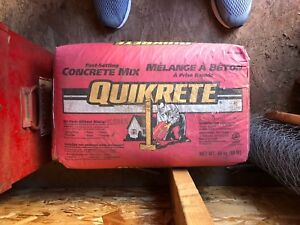 2 bags of Quikrete