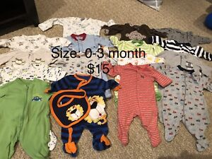 Baby Clothing (size 0-3 months)