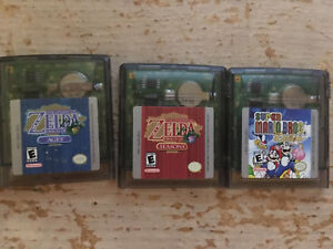 Zelda and Mario Gameboy Colour games oracle