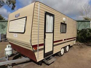 CARAVAN, TANDEM AXLE, REVERSE CYCLE, A/C, 16 FT7, ISLAND BED. Geelong Geelong City Preview
