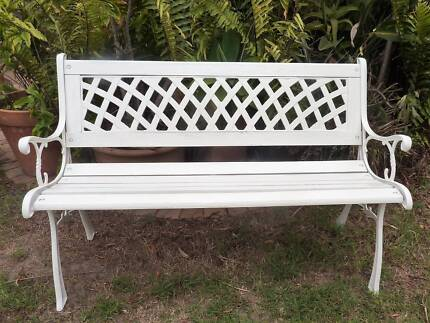 WHITE CAST IRON GARDEN BENCH SEATgarden bench seat   Gumtree Australia Free Local Classifieds. Outdoor Bench Seats Gumtree. Home Design Ideas