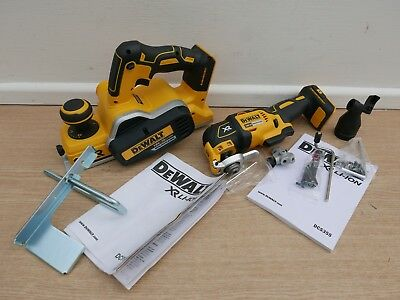 DEWALT XR 18V DCP580 PLANER & FENCE + DCS355 OSCILLATING MULTI TOOL BARE UNITS