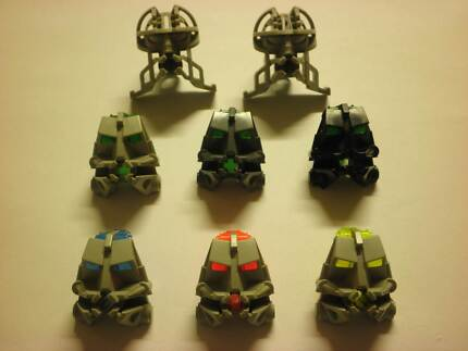 Lego Bionicle Head Connectors Spare Parts 32579 32571 32553 Heathcote Sutherland Area Preview