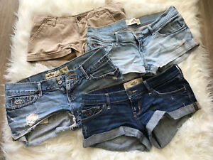 Lot of hollister shorts size 3