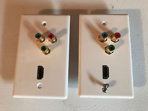 HDMI and Component Wall Plates