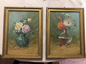 Flower Oil Paintings 8.5 by 11