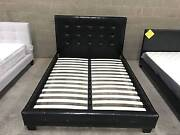【Brand New】High Quality PU Leather Bed Frame in Black or White Melbourne CBD Melbourne City Preview