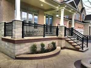 Aluminum railing glass/picket column gate handrail fence