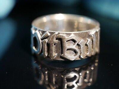 Toller 925 Silber Ring Markenschmuck Pit Bull Modern Unisex Damen Herren Stark (Pitbull Schmuck)