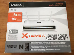 D-Link Wireless N300 Mbps Extreme-N Gigabit Router model DIR-655