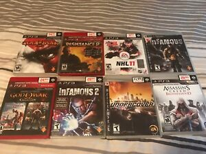 Lot de jeux pour Playstation 3 (God of W, Assassins Creed, ...)