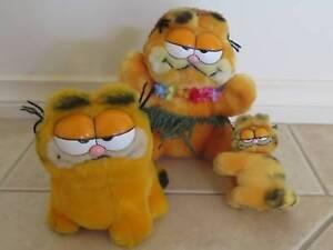 Garfield Plush Toys (3)