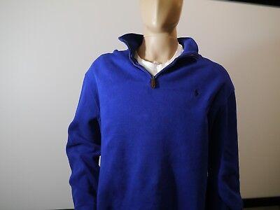 Polo Ralph Lauren 1/4 Zip Pullover Sweater Blue Men's 2XL