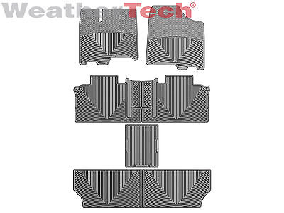 Weathertech All Weather Floor Mats For Toyota Sienna 2011 2012   Full Set   Grey