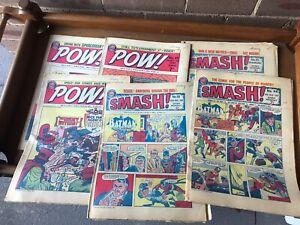 Vintage 1960s Pow and smash comics