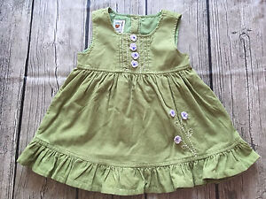 Teddy' Choice - Green Corduroy Dress 9-12 months