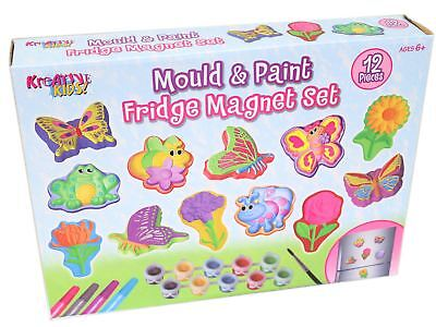 Bumper Mould and Paint Fridge Magnet Set - Make Your Own Butterfly and Insect