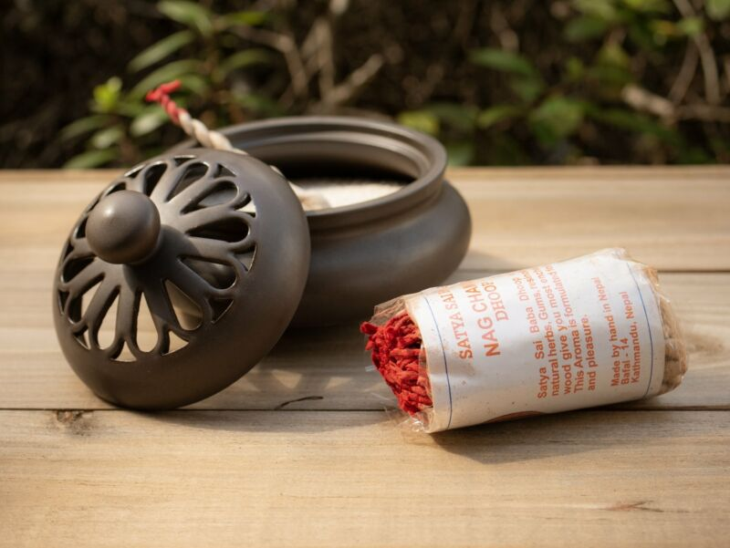 Satya Sai Baba Nag Champa Tibetan Rope Incense