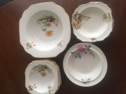 Adams and Alfred meakin flower painted bowls