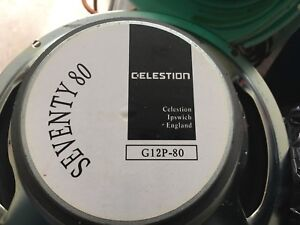 "Pair of 12"" celestion guitar speakers from Marshall amp"