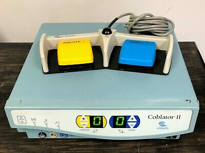 Arthrocare Ent Coblator Ii 2 Electrosurgical Controller 8000e W Footswitch