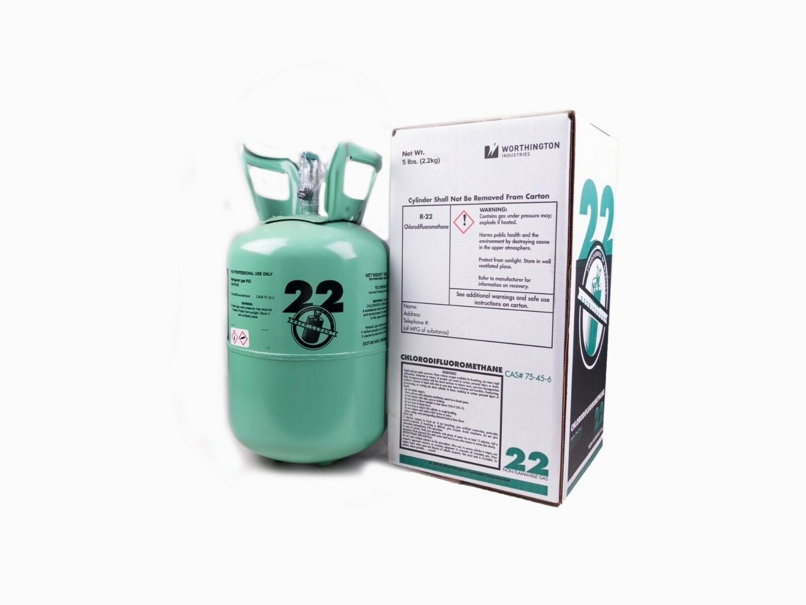 New R22 Virgin Refrigerant FACTORY SEALED 5 LBFREE SAME DAY SHIPPING
