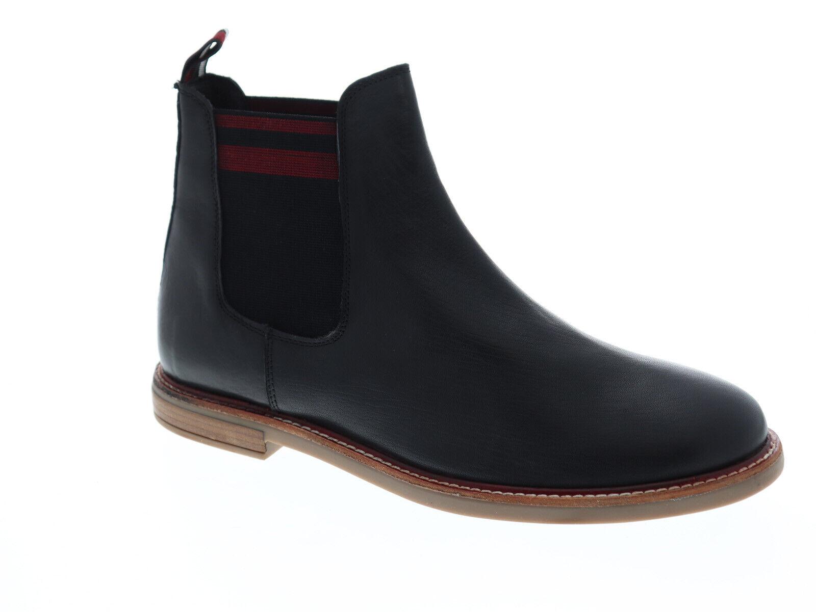 Ben Sherman Birk Chelsea BNM00055 Mens Black Leather Slip On Boots Shoes