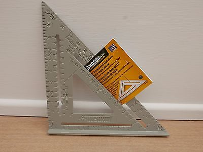 """JOHNSON 12"""" PROFESSIONAL ALUMINUM  RAFTER ROOFING ANGLE JOHNNY SQUARE"""
