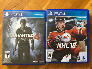 NHL18, Uncharted 4