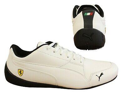 Puma SF Ferrari Drift Cat 7 White Lace Up Low Top Mens Trainers 305998 06 B106D