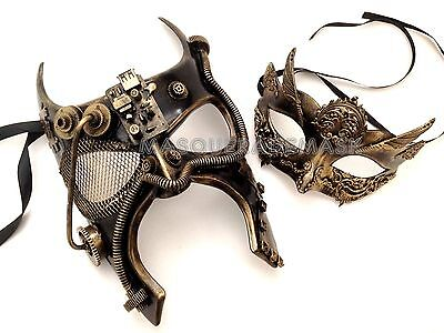 Couple Masquerade Ball Mask Pair Steam punk Batman Mask Costume Burlesque Party