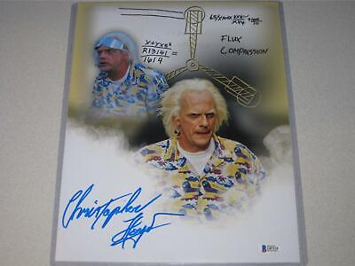 Christopher Lloyd Signed 11x14 Back to the Future Photo Autograph Beckett COA 2