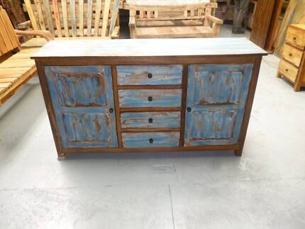 RECYCLED TIMBER RUSTIC BOATWOOD SIDEBOARD BUFFET. 160cm Long Granville Parramatta Area Preview