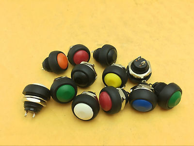 Waterproof Momentary Onoff Push Button Round Spst Switch M4 12mm 1-1000pc Color