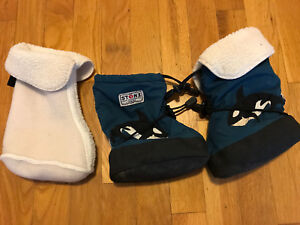 Stone boots with winter insert: 1 - 2.5 yrs
