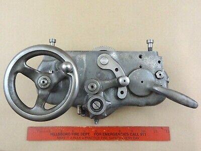 Excellent Original South Bend 9 Model A B 10k Lathe Apron - No Play In Handwheel