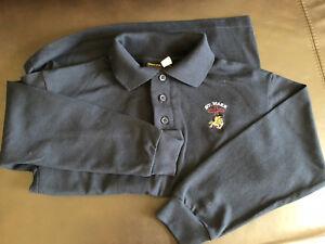 St. Mark brand new long sleeve polo shirt