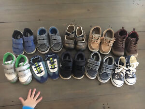 Baby toddler boys shoe lot