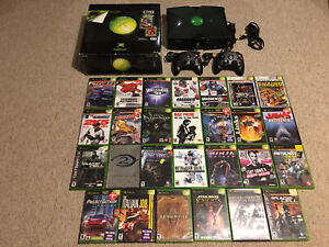 Original Xbox bundle with 27 games