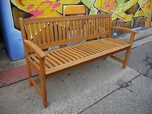 New Timber 1500 Lucca Bench Seat Garden Wooden Outdoor Furniture Melbourne CBD Melbourne City Preview