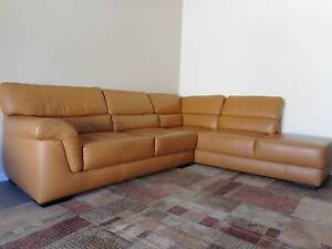 Sofa-Leather Right Hand Facing Chaise Mitcham Mitcham Area Preview