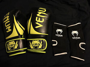 Venum 16 oz gloves and ankle wraps