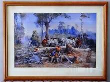 """Painting by d'Arcy Doyle """"The Loggers Tea Break"""" Framed Print Greenbank Logan Area Preview"""