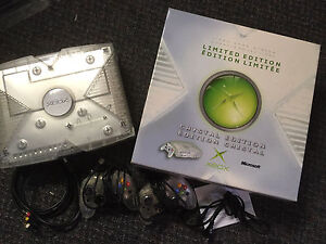 Original Crystal Xbox with the box and xtra controller