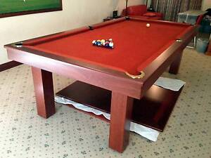 Quedos pool table / Dining table, jarrah,  8' x 4' St James Victoria Park Area Preview