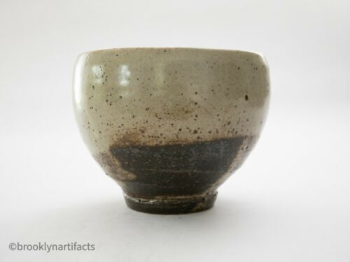 Antique Japanese Tea Bowl / Ceremony Chawan - Edo Glazed Raku Pottery