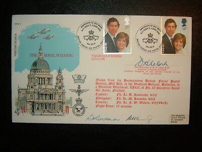 1981 ROYAL WEDDING RAF RFDC5 SIGNED LIMITED EDITION FDC and BFPS 1932 SHS CV 25